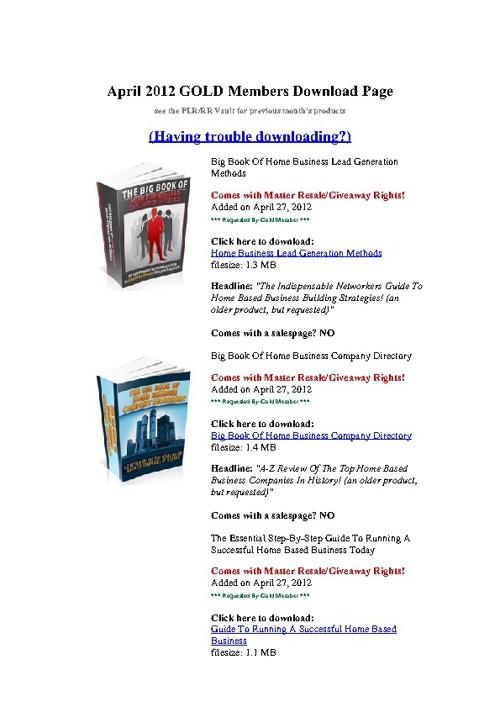RRW April catalog