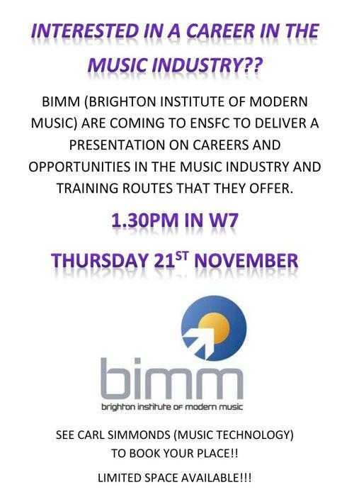 BIMM poster
