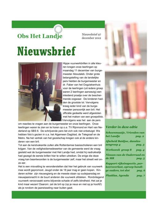 Het Landje, Nieuwsbrief 97
