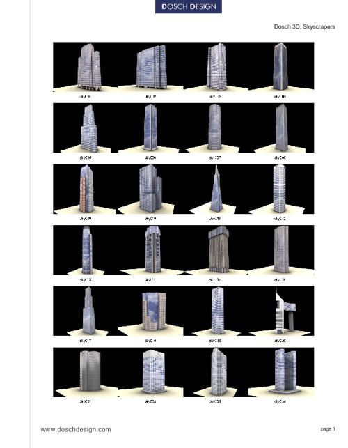 29_DOSCH 3D - Skyscrapers