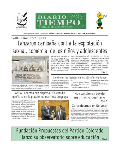 Diario Tiempo  - 10 d Abril de 2013