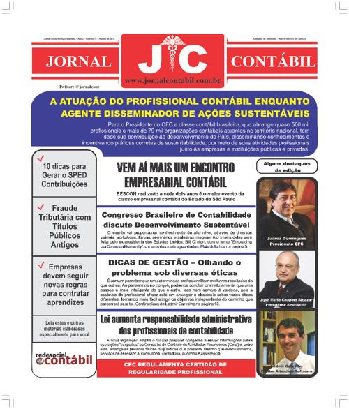 Jornal Contábil Impresso - Edição 11
