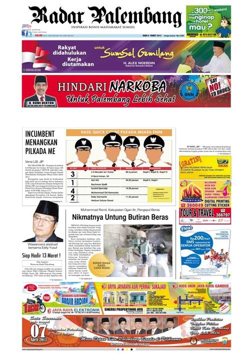 Radar Palembang Edisi 06-03-2013 Koran 1
