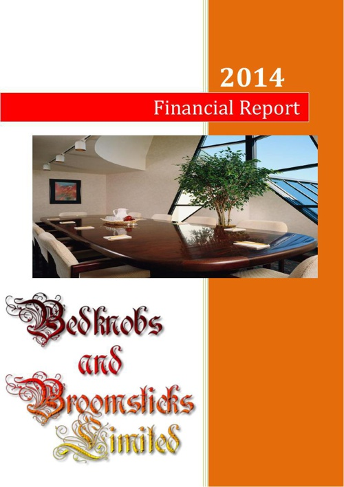 Financial Report - Bedknobs and Broomsticks Limited