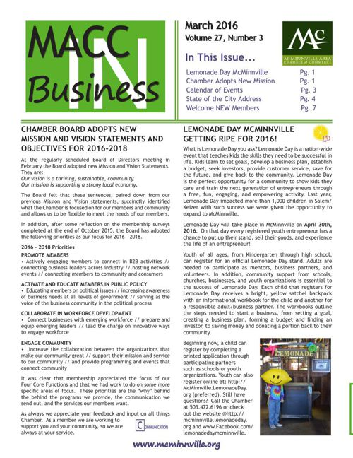 MACC In Business March 2016
