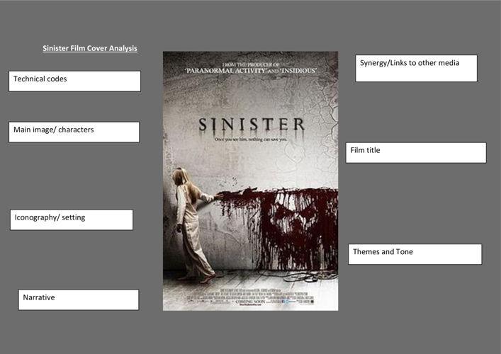 sinister film poster analysis