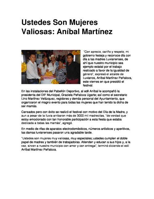 Ustedes Son Mujeres Valiosas Aníbal Martínez