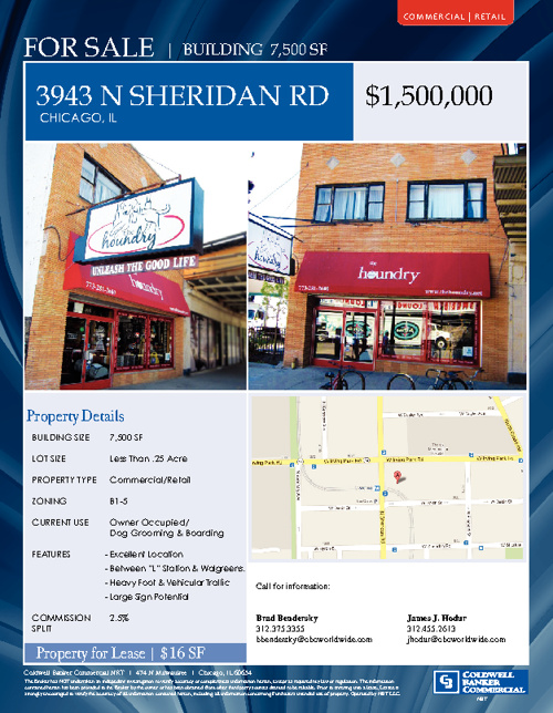 Building for Sale -3943 N Sheridan Rd