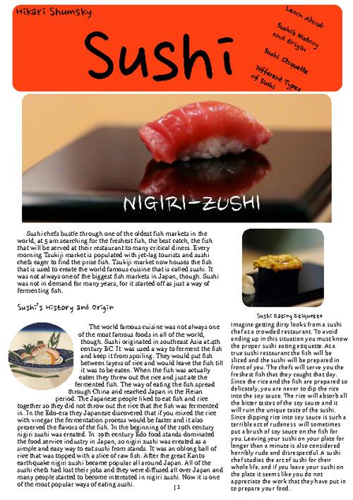 Copy of Sushi Magazine