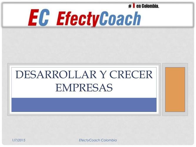 PRESENTACION EFECTYCOACH COLOMBIA