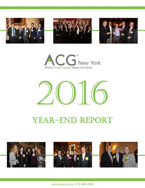 2016 ACG New York Year End Report