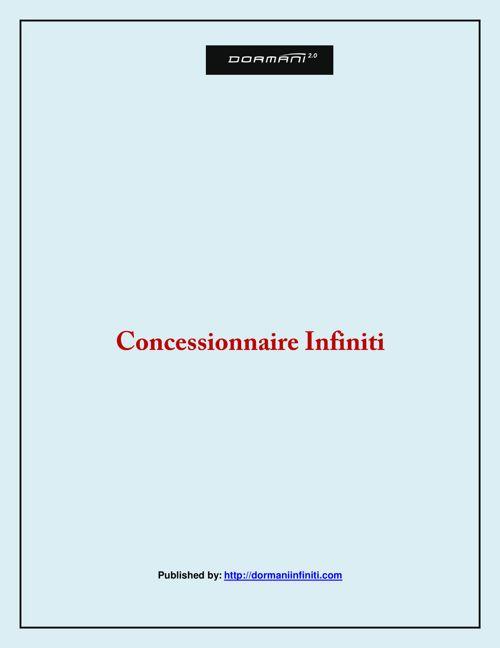 Concessionnaire Infiniti