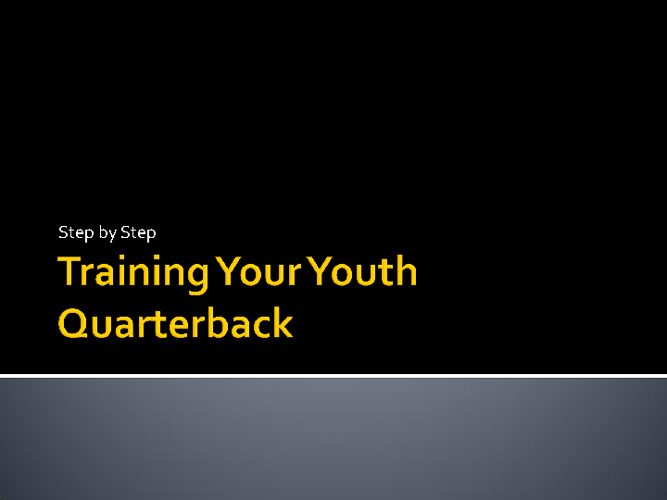 QB Training