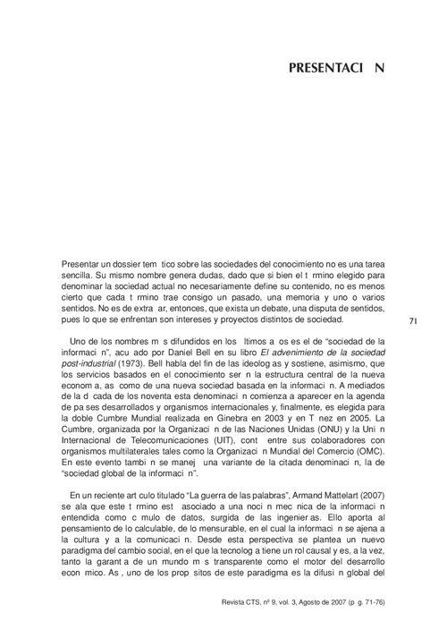 VOL03/N09 - Presentación dossier