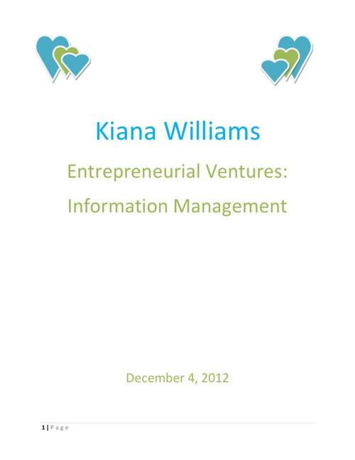 Kiana Williams Information Management