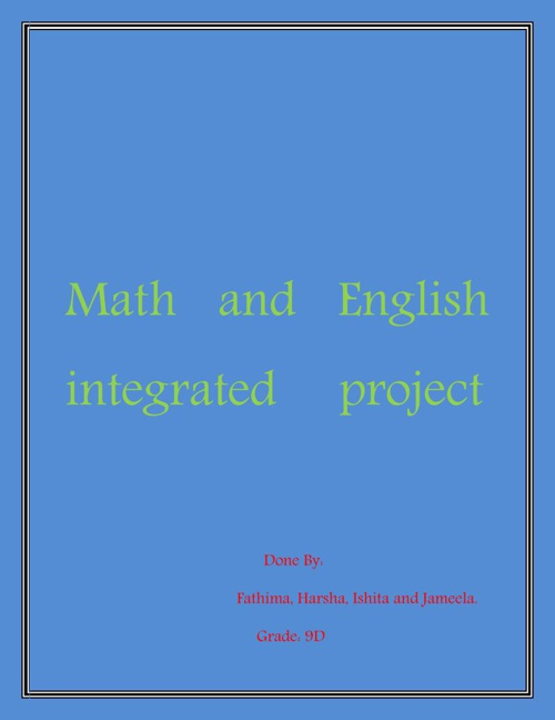 Math and English integrated     project
