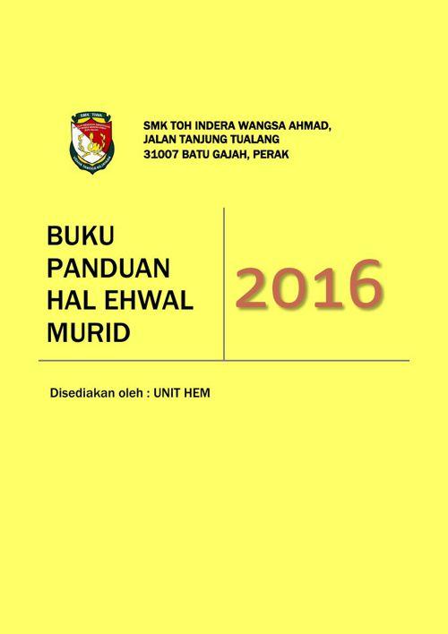 BUKU PANDUAN HEM 2016