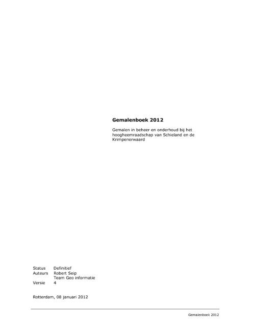 Gemalenboek 2012