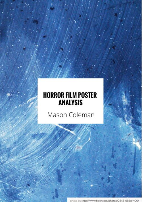 Horror Film Poster Analysis'