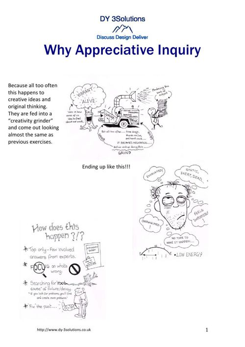 Why Appreciative Inquiry
