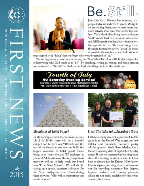 July Newsletter from First United Methodist Church