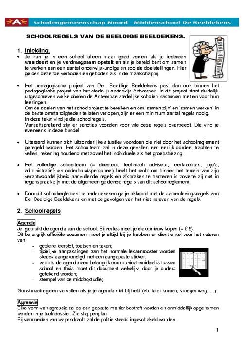 schoolreglement MDB 2011-2012