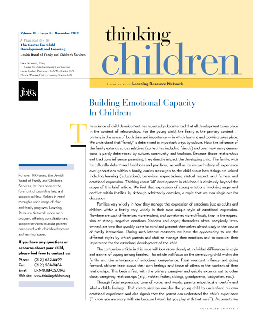 Thinking Children Newsletter vol. 10; iss 3