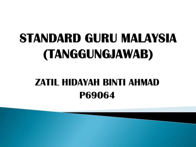 STANDARD GURU MALAYSIA  (TANGGUNGJAWAB)