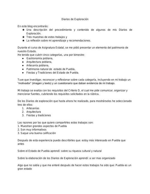 DIARIO DE EXPLORACIÓN BLOG ASIGNATURA