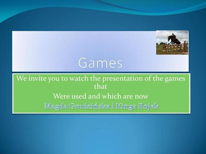 game -presentation-Kinga Rojek
