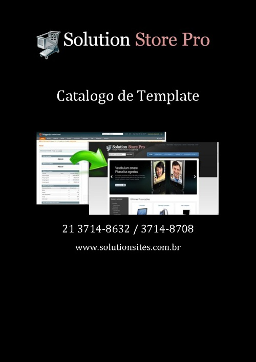 Catalogo de template do Solution Store Pro