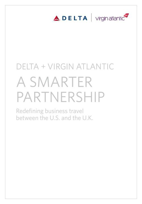 Delta and Virgin Atlantic Smarter Partnership