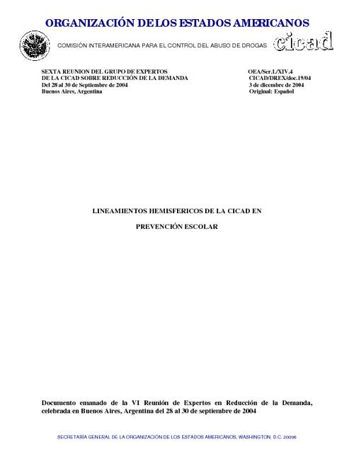 PREVENCION ESCOLAR CICAD-OEA
