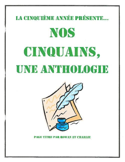 Copy of Nos cinquains, Une anthologie