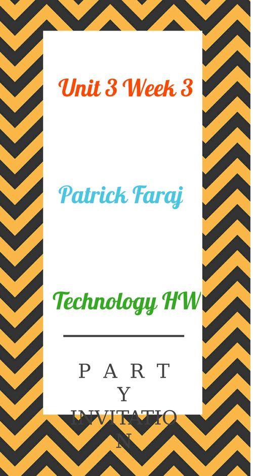 Unit 3 Week 3 Patrick Faraj HW