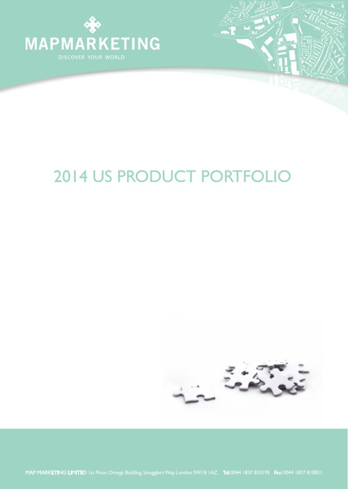 Map Marketing Products 2014
