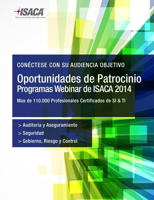 ISACA Brochure Patrocinio Webinars 2014
