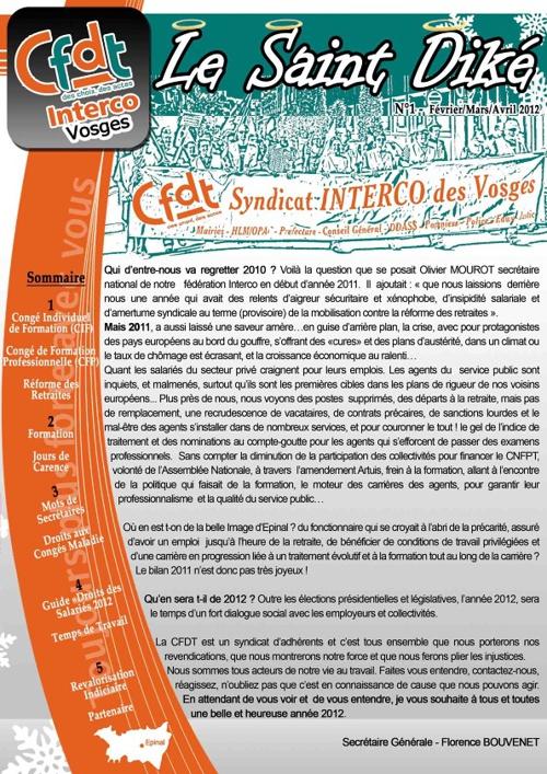 Bulletin Le St-Diké  -  Fév-Av 2012