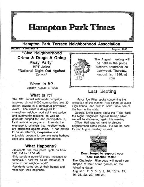 HPT Neighborhood August 1996