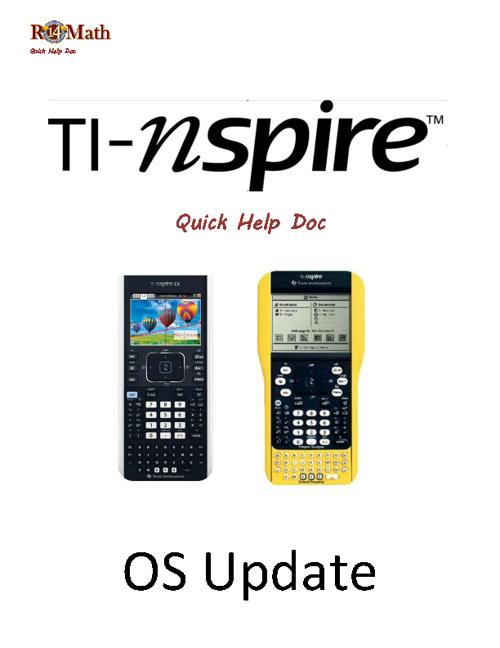 Updating TI-Nspire OS