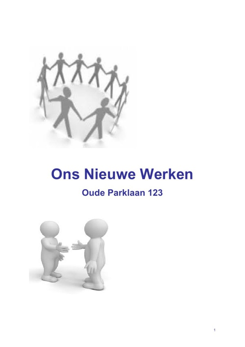 Ons Nieuwe Werken in Castricum