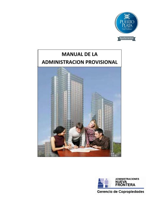 MANUAL DE ADMINISTRACION PROVISIONAL PP
