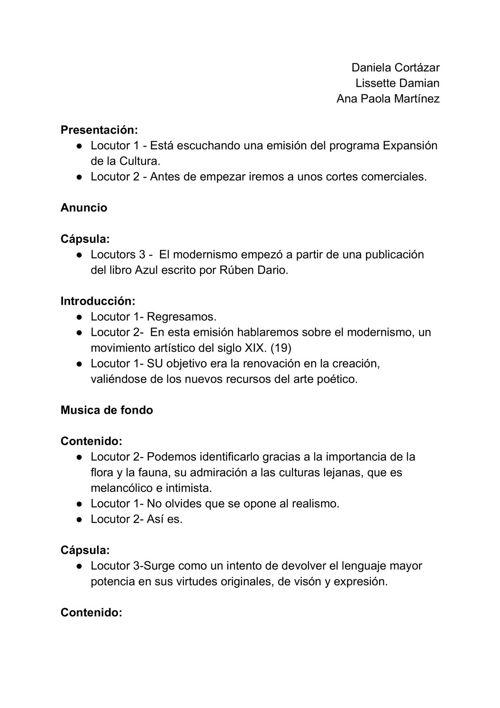 Guión - Radio