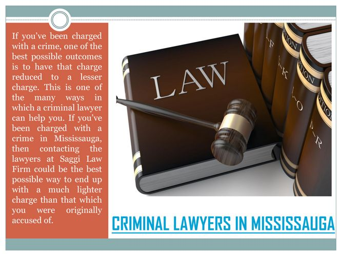 Mississauga criminal lawyer for hire