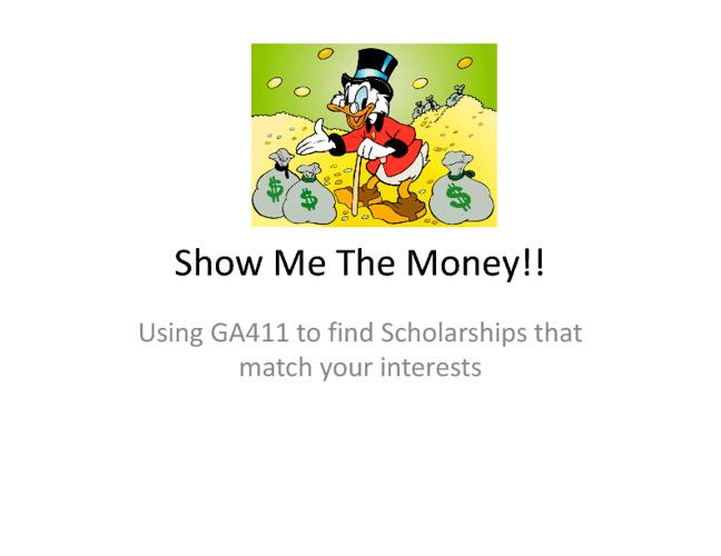 GA 411 Scholarship Finder