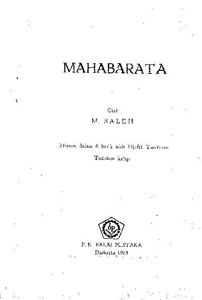MAHABHARATA (M.Saleh)