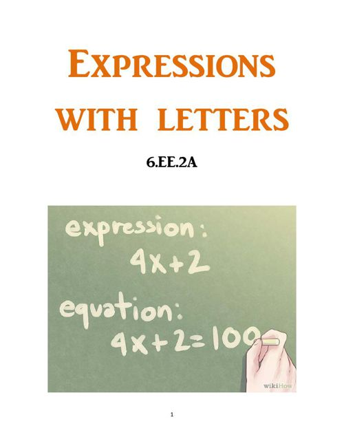 Expressions With Letters