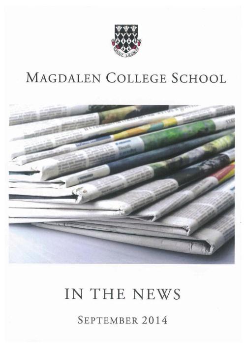 MCS in the News - September 2014