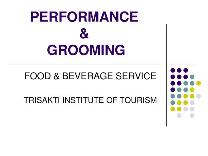 F&B Service - Grooming