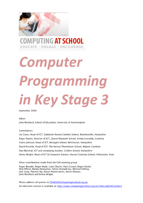 Key Stage 3 Programming